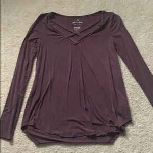 American eagle soft and sexy maroonish long sleeve